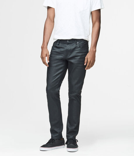 Super Skinny Coated Black Wash Reflex Jean