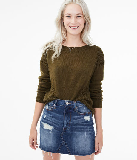 Pointelle Mix Sweater