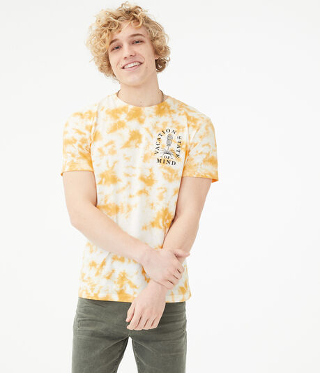 Pineapple Vacation Tie-Dye Graphic Tee