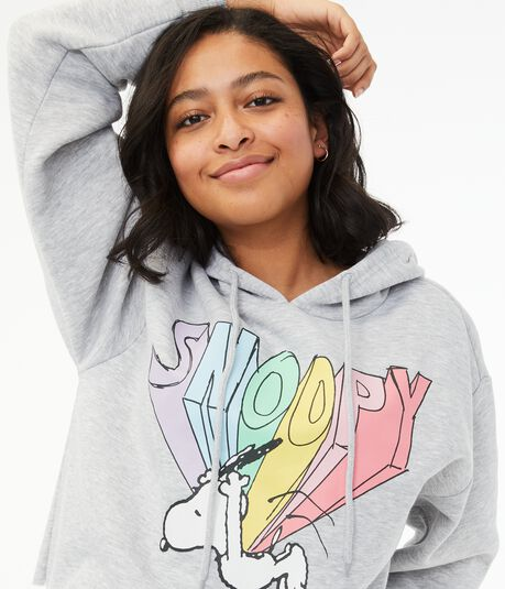 Super Snoopy Cropped Pullover Hoodie