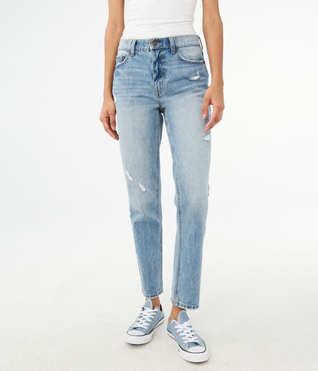 High-Waisted Ankle Mom Jean
