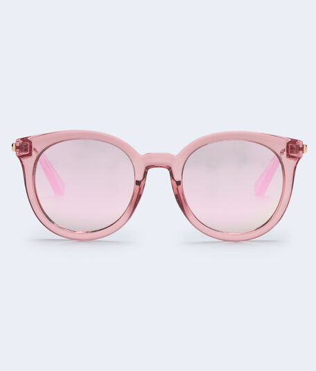 Translucent Round Mirrored Sunglasses