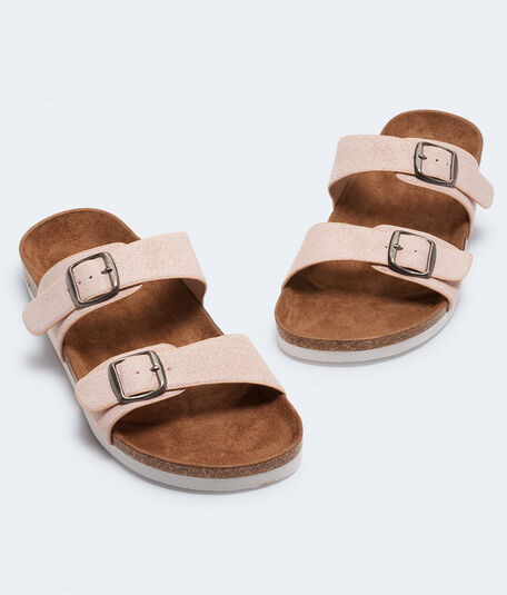 Double-Strap Cork Sandal***