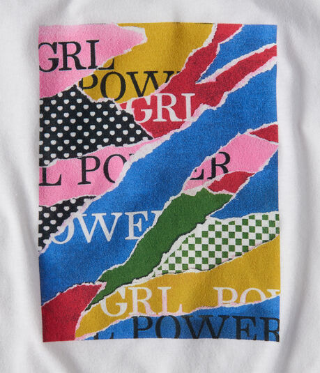 Long Sleeve Free State Grl Power Patterns Graphic Tee