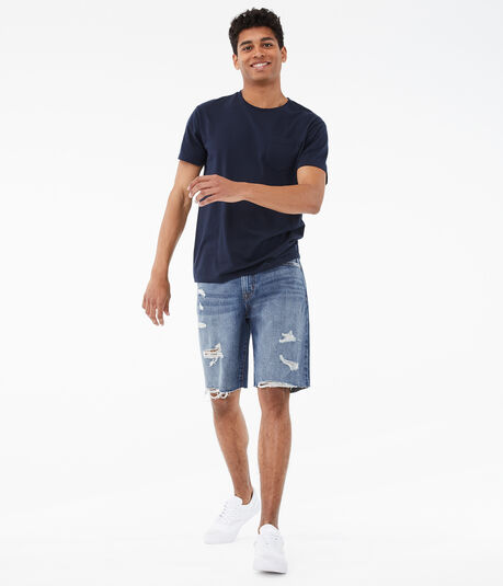 "Real Denim Loose 10"" Cutoff Shorts"