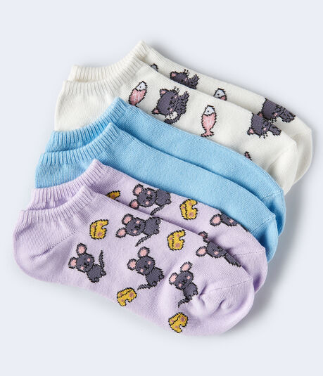 Cat & Mouse Ankle Sock 3-Pack