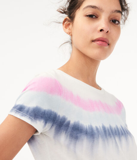Seriously Soft Tie-Dye Stripe Girl Tee