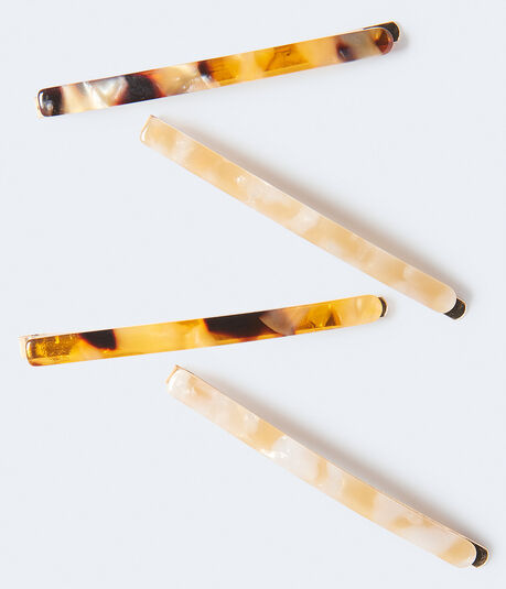 Tortoiseshell Hair Slide 4-Pack