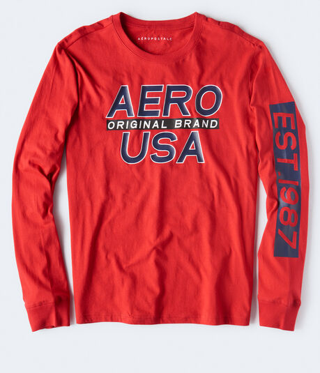 Long Sleeve Aero USA Graphic Tee