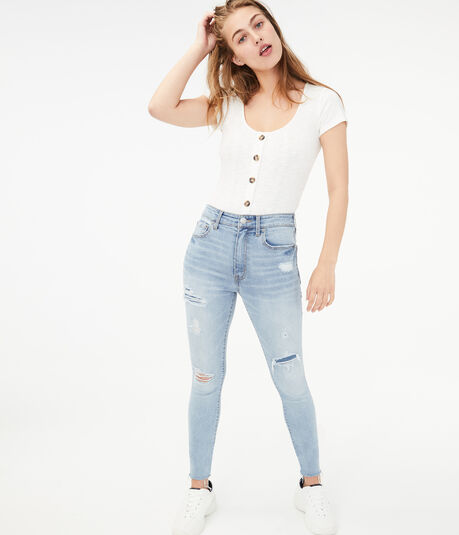 Seriously Stretchy Super High-Rise Ankle Jegging