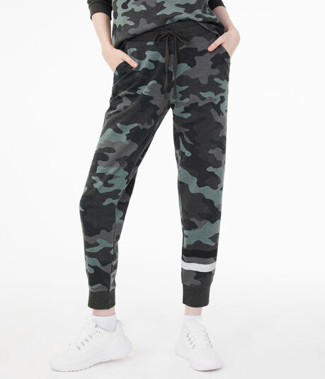 Camo Calf Stripe Cinched Sweatpants