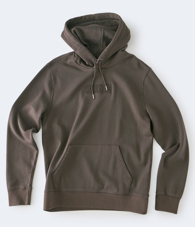 Tonal Logo Washed Pullover Hoodie