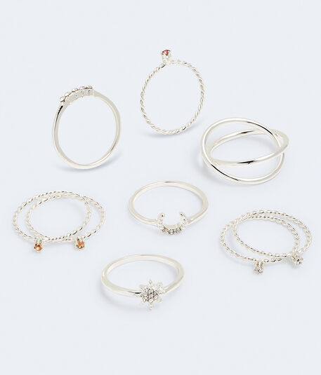 Rhinestone Ring 9-Pack