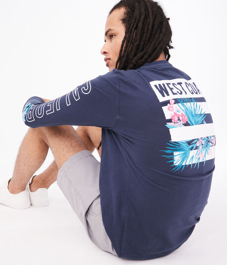 Long Sleeve California West Coast Graphic Tee