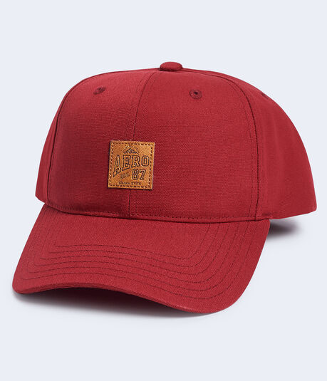 Faux Leather Aero Patch Adjustable Hat***