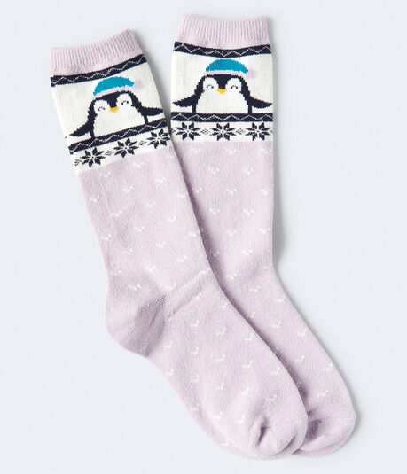 Seriously Soft Penguin Boot Socks***