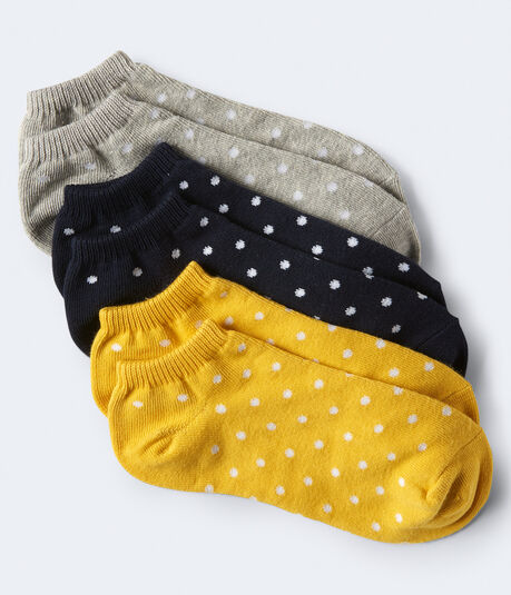3-Pack Mini Dot Ankle Socks