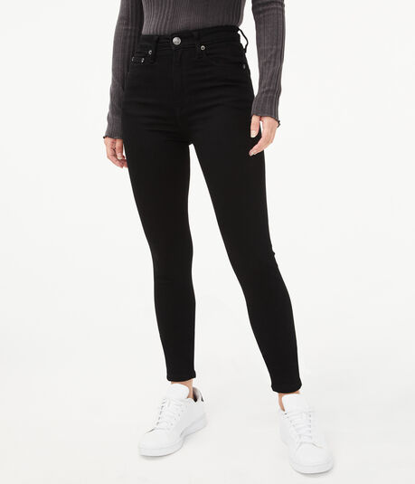 Seriously Stretchy Super High-Rise Black Ankle Jegging