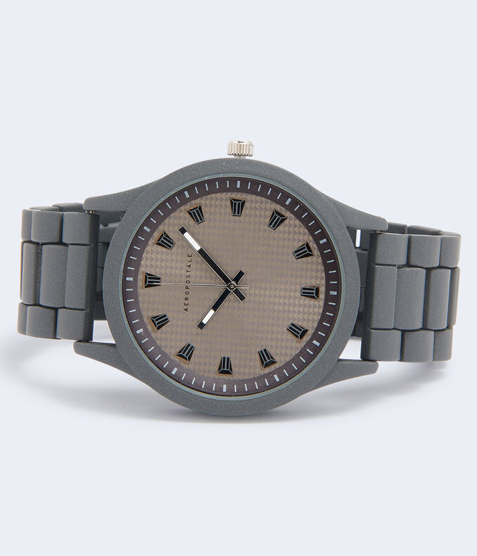 Matte Metal Analog Watch