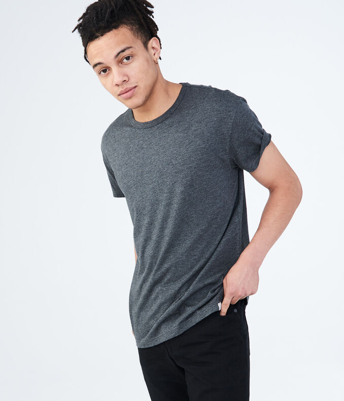 Heathered Crew Neck Tee for Men