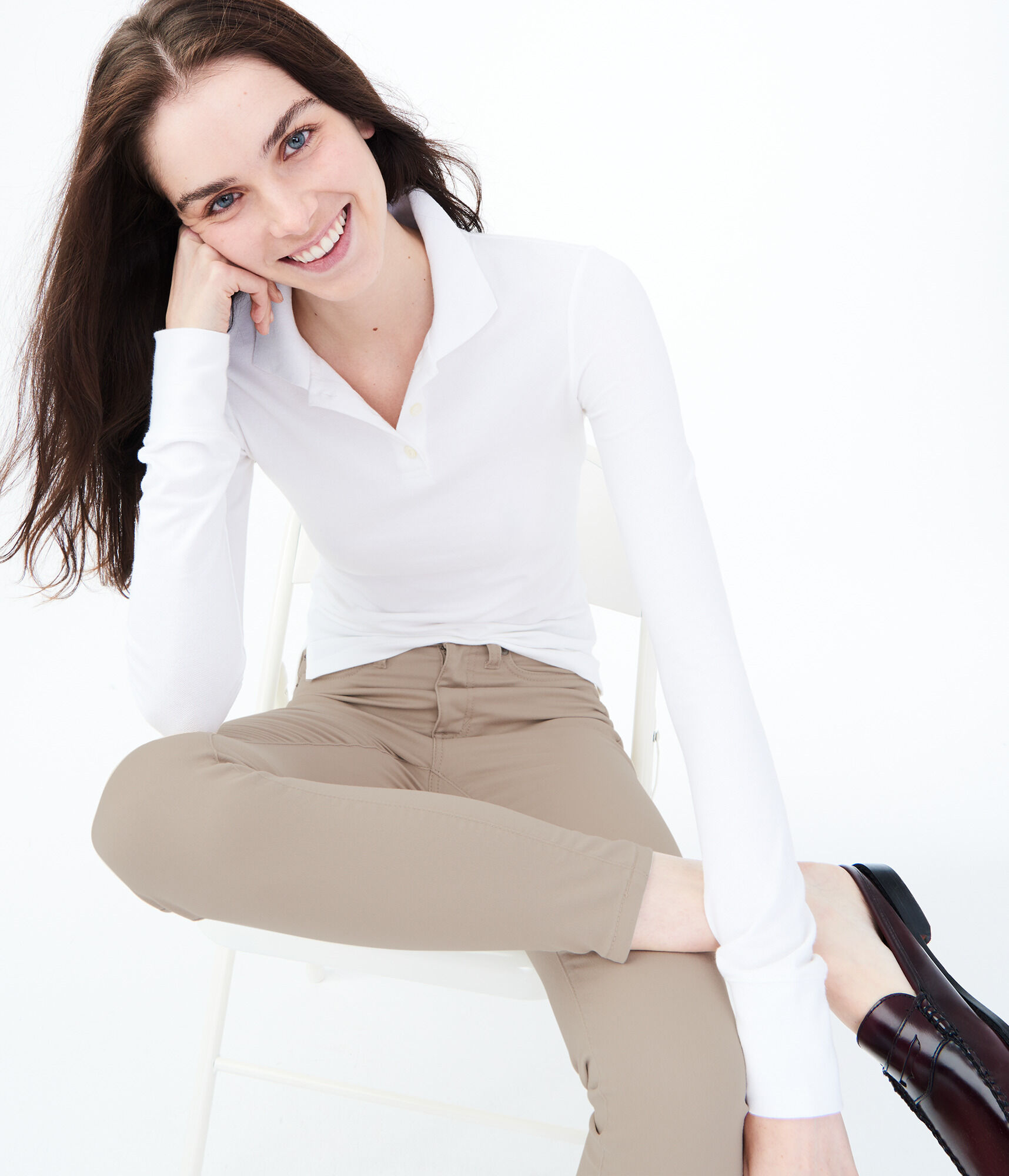 0ccfd04a833 Seriously Stretchy High-Waisted Solid Uniform Jegging    ...