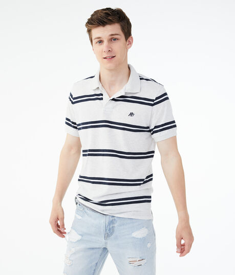Bar Stripe Jersey Polo