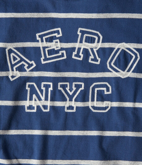 Aero NYC Striped Graphic Tee