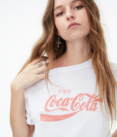 Coca-Cola Cropped Graphic Tee