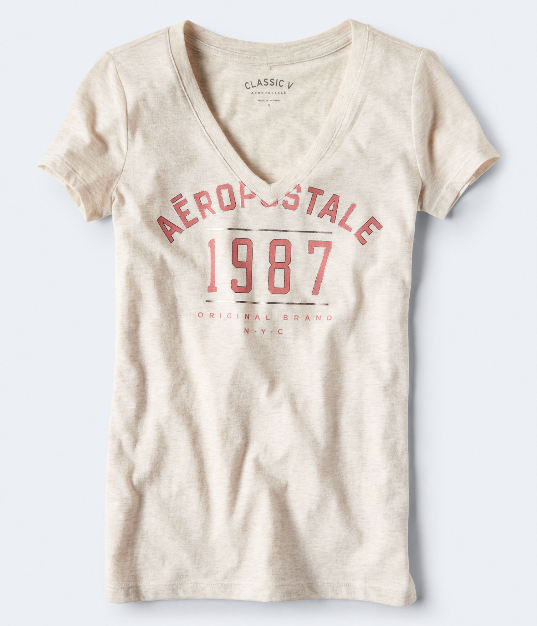 694d2b6df8db Aeropostale Original Brand V-Neck Graphic Tee
