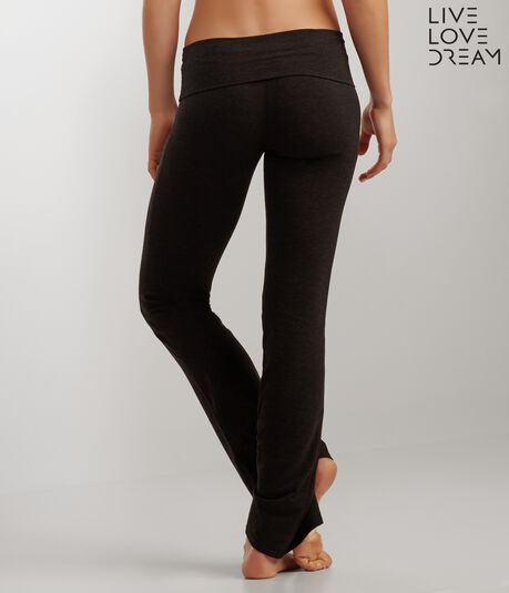 LLD Solid Waistband Bootcut Yoga Pants
