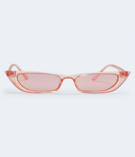 Slim Clear Cateye Sunglasses