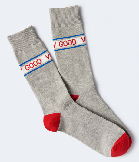 Good Vibes Only Crew Socks