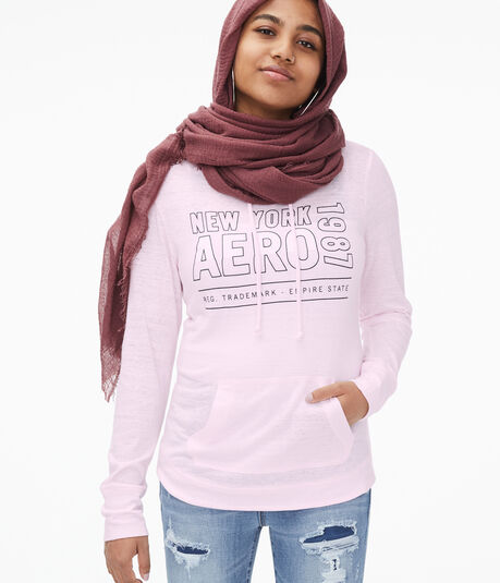 Long Sleeve Outlined Aero Hooded Tee***