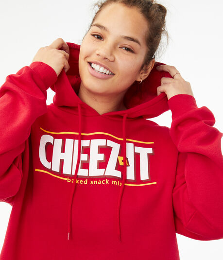 Cheez-It Cropped Pullover Hoodie***