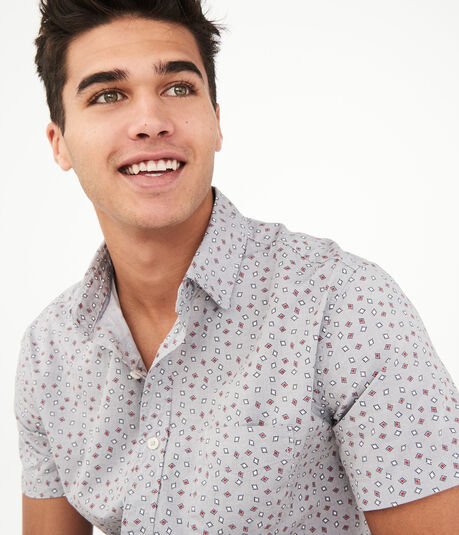Diamond Geo Button-Down Shirt