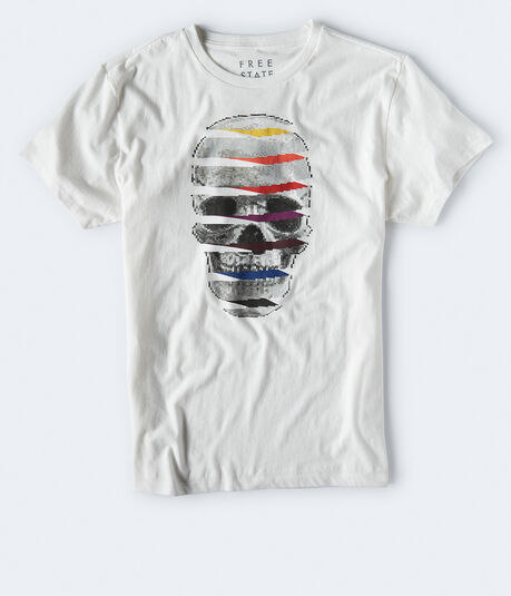 Free State Pixelated Skull Graphic Tee