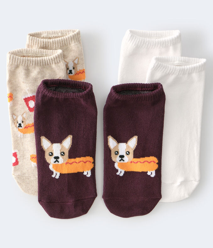 Hot Doggy Ankle Sock 3-Pack