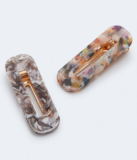 Marbleized Hair Clip 2-Pack