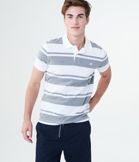 A87 Heritage Bar Stripe Jersey Polo