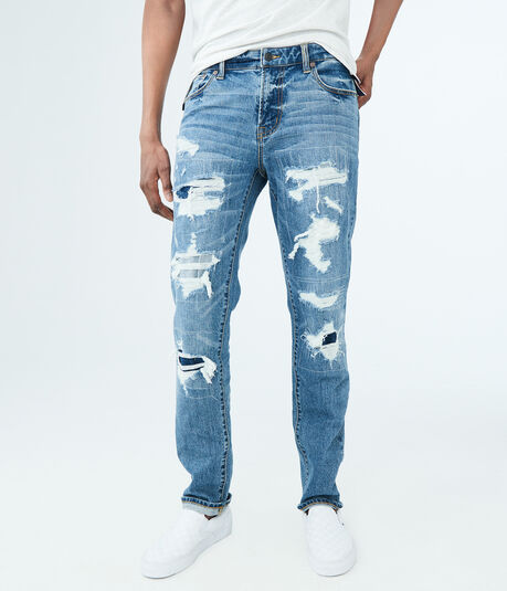 Slim Medium Wash Destroyed Reflex Jean