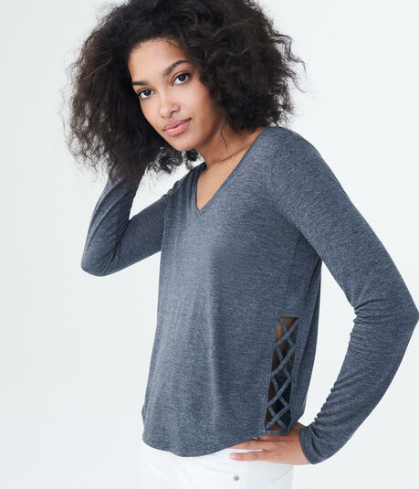 LLD Long Sleeve Lattice-Side Tee