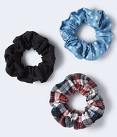 Denim Star Scrunchie 3-Pack