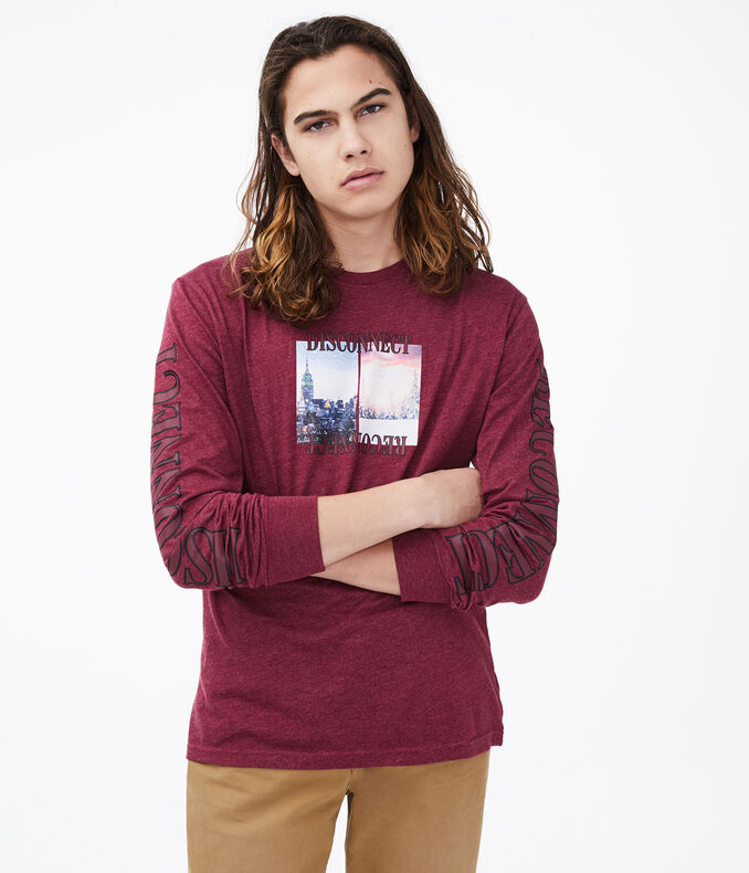 Long Sleeve Disconnect Reconnect Graphic Tee