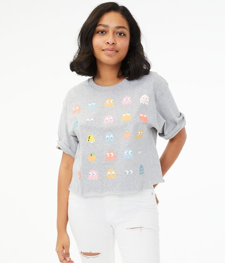 Pac-Man Cropped Graphic Tee