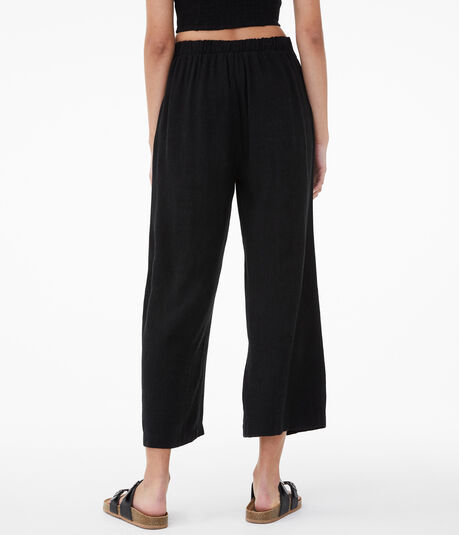 Buttoned High-Rise Wide-Leg Pants