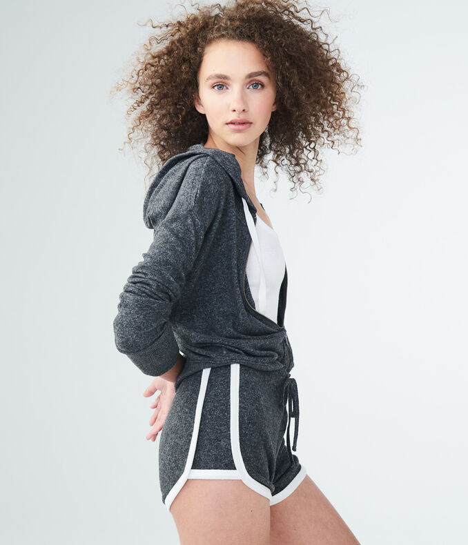LLD Seriously Soft Fuzzy Full-Zip Hoodie