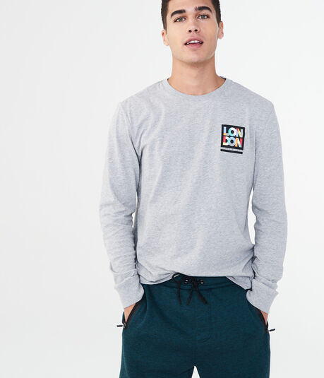 Long Sleeve London Square Graphic Tee