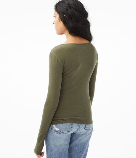 Long Sleeve Seriously Soft Zip-Front Bodycon Top