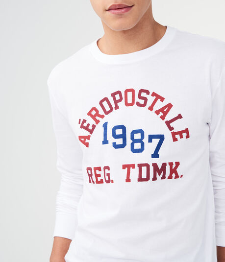 Long Sleeve Aero 1987 Trademark Graphic Tee