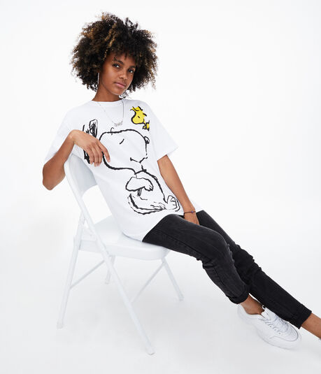 Snoopy & Woodstock Boyfriend Graphic Tee